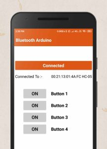 Bluetooth Arduino App