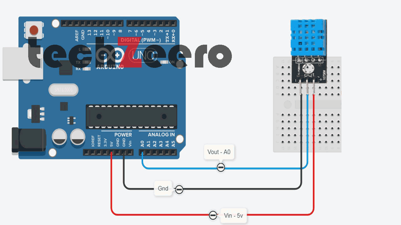 Circuit Diagram of DHT11 with Arduino