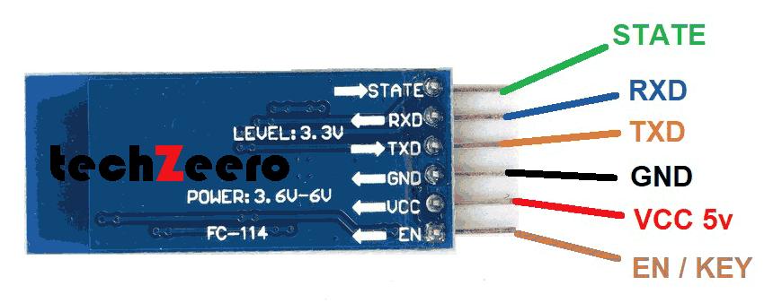 Bluetooth Module HC-05 Pinout