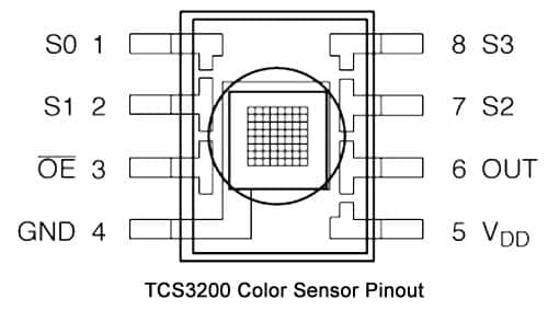 color sensor pinout