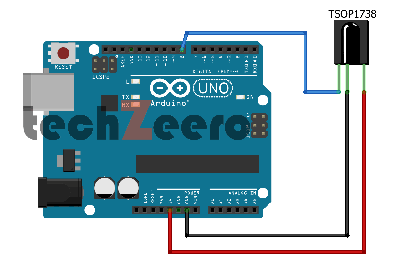 circuit diagram tv remote arduino