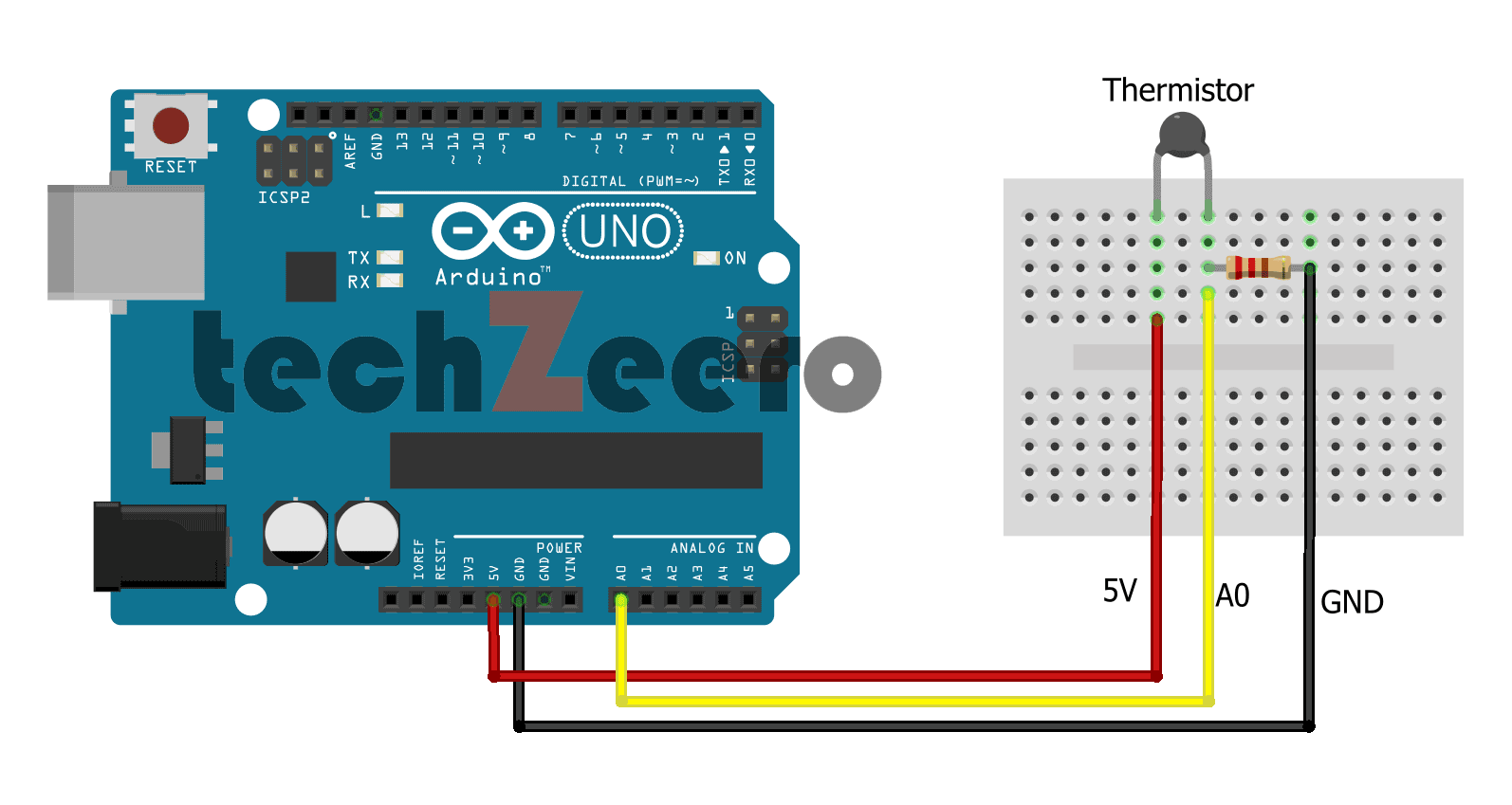 Circuit Diagram For Thermistor With Arduino