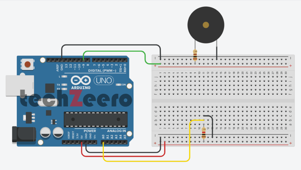 circuit diagram for buzzer with arduino