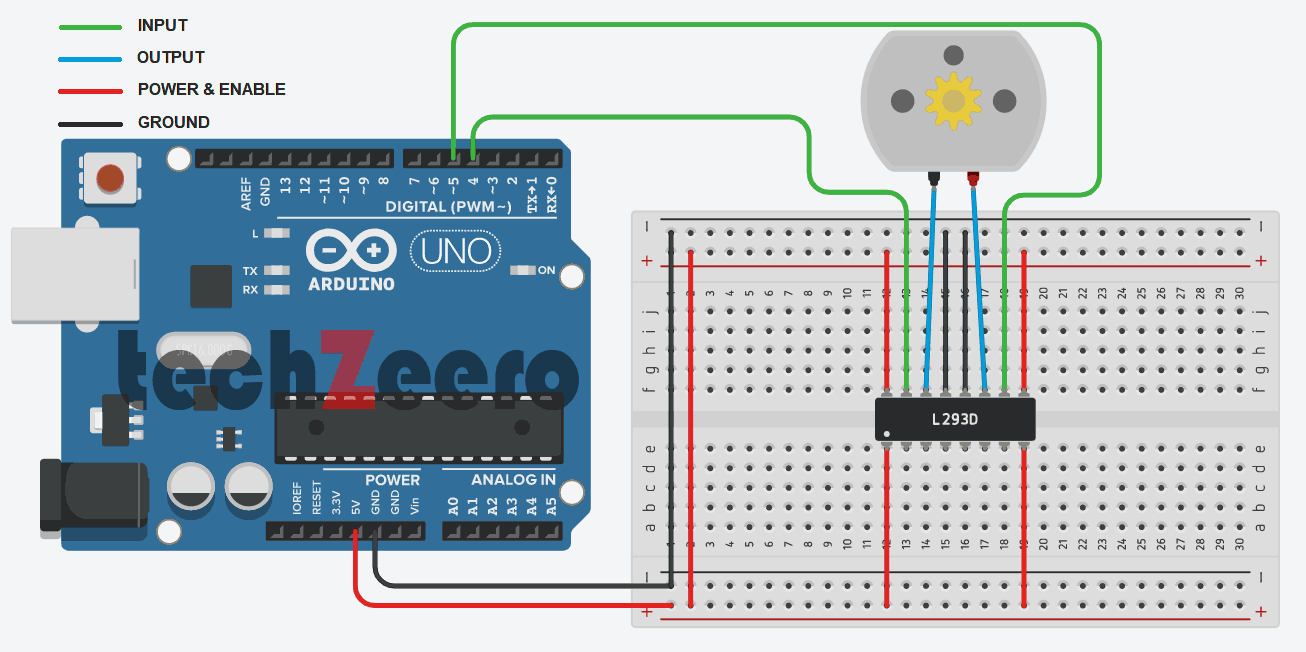 circuit diagram for dc motor with arduino