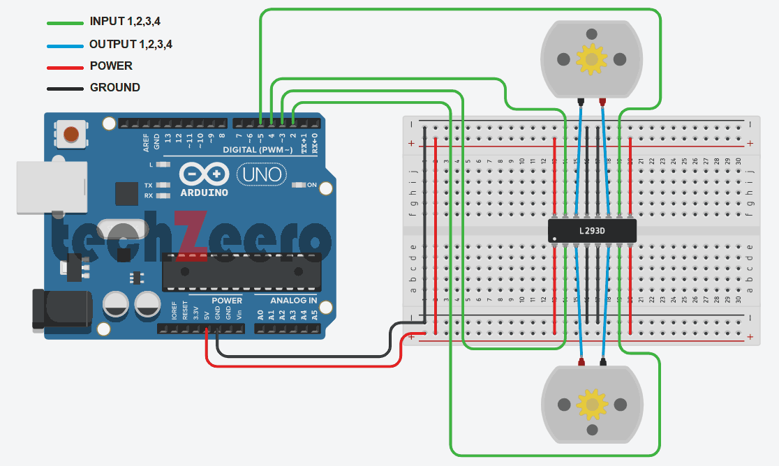 two dc motor with arduino