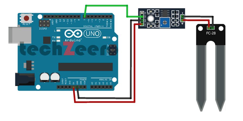 Interfacing Soil Moisture Sensor with Arduino using Digital Pin