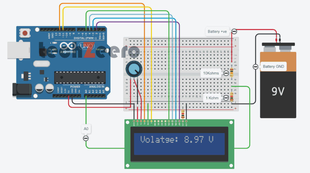 voltage meter with lcd