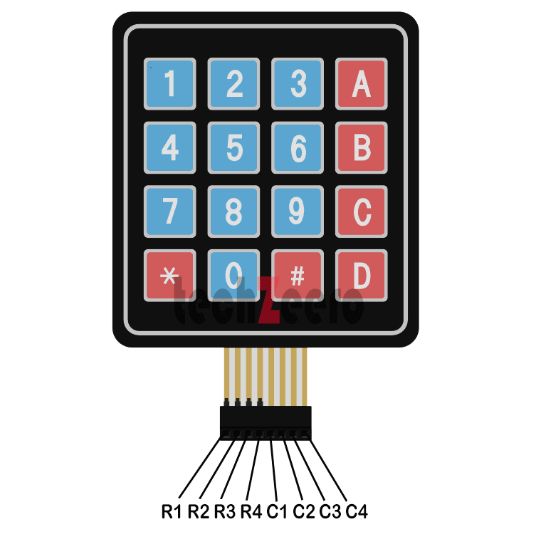 Keypad pinout