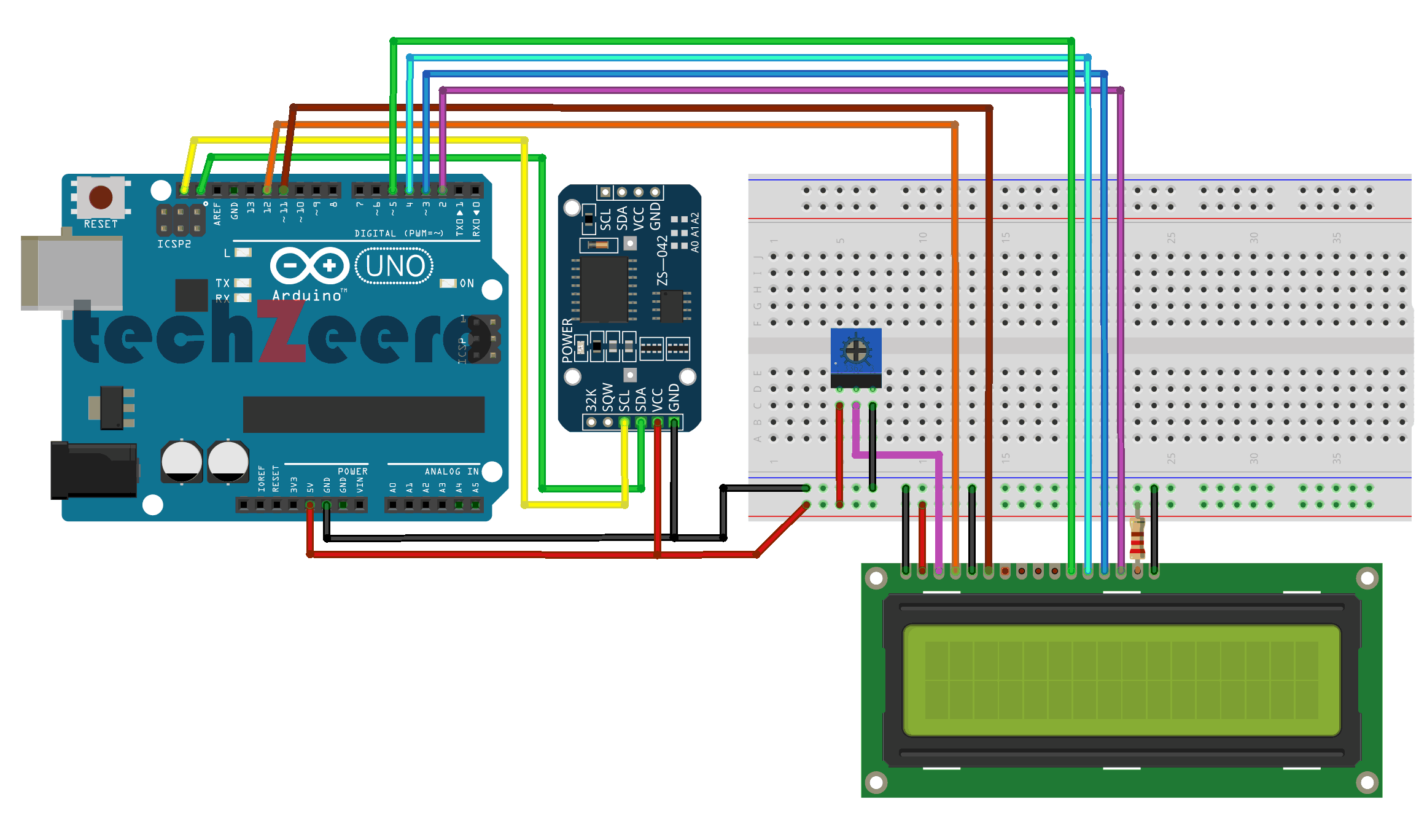 rtc and lcd with arduino