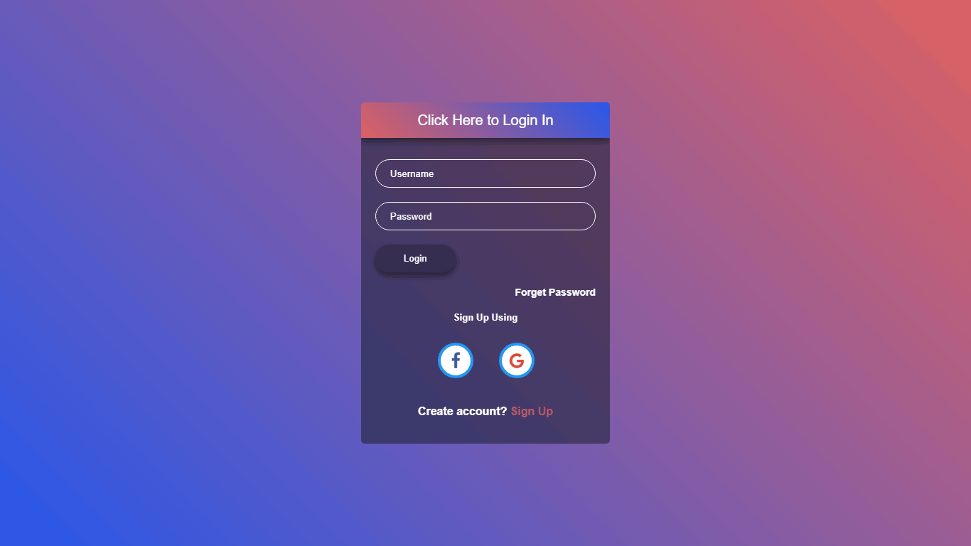 Folded Login Form
