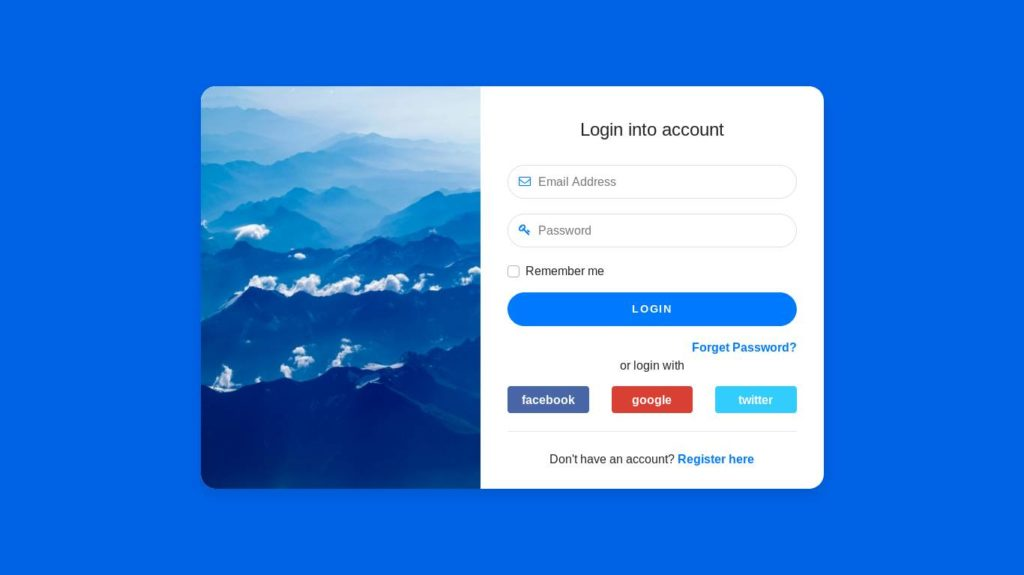 creative login forms